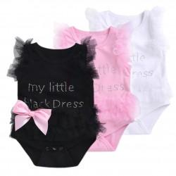 Elegant baby bodysuit with mesh for girl