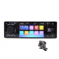 "Bluetooth car radio - 1 Din - 4"" touch screen - MP5 video player - USB - TF - Handsfree A2DP - Mirror link"