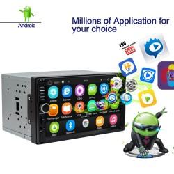 2 Din Bluetooth Android 9 car radio - WiFi - USB - GPS navigation - Mirrorlink - MP3 MP5