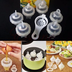 Separator - egg cooker - steamer - silicone tool 7 pieces