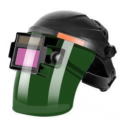Solar - auto darkening welding helmet - adjustable - flip mask