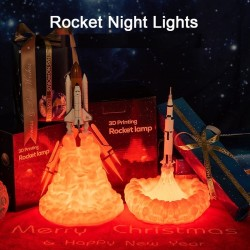 3D Space shuttle - rocket-shaped night lamp - 3 types - 21cm & 28cm