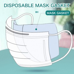 Disposable cotton face/mouth mask gasket - dust-proof - 3 layers - respirator filter - 10 pieces