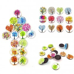 Small trees - round fridge magnets 30mm 12 pieces