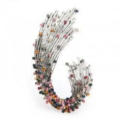 multicolor rhinestone geometric shape brooches - women weddings brooch pins gifts