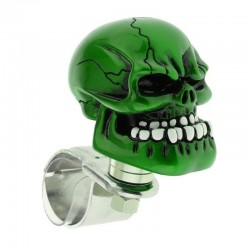 Green skull head - steering wheel ball