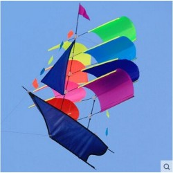 Flying pirate ship - sailboat - kite