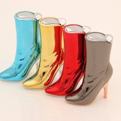 High heel shoe shape - refillable gas cigarette lighter