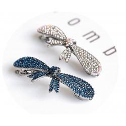 Elegant crystal bowknot - hair clip - hairpin