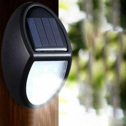 Waterproof Solar Power LED Lamp - 10LED 100mAh