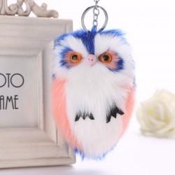 Cute Fluffy Owl Keychain