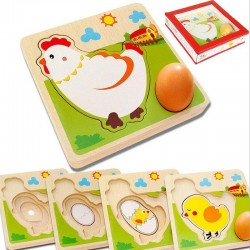 Chicken Egg Wooden Puzzle - Kids