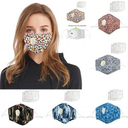 Face- / mouth mask with air valve - with activated carbon PM2.5 filters - washable
