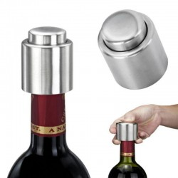 Wine - champagne - bottle closer - stainless steel
