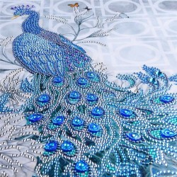 Rhinestone peacock 5D - DIY painting - diamond embroider - home decor