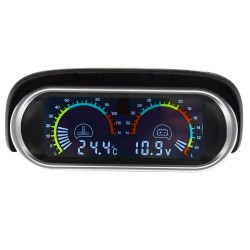 2 in 1 - lcd - car- truck - water temperature - voltmeter - 12v 24v