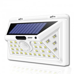 LED Solar lights - Outdoor - Motion Sensor - Wall Lamps - Waterproof - Black - White