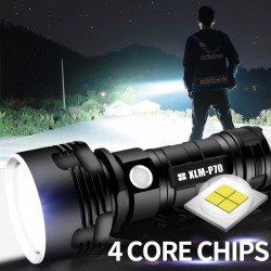 Super Powerful LED Flashlight - Rechargeable - Waterproof
