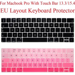 EU Keyboard Protector - Macbook Pro 13 - 13.3 - Silicone - Protection