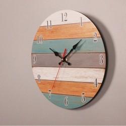 Retro Wall Clock - Vintage - Wooden Roman Craft