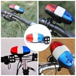 6 Led - 4 tone sounds - bicycle bell - horn with light