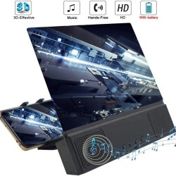 12 inch - HD - mobile phone screen amplifier - 3D glass magnifier with Bluetooth speaker - stand - holder