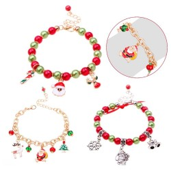 Christmas bracelet with beads & charms