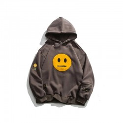 Hoodie with smiley face - unisex