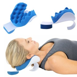 Neck - shoulder therapeutic support pillow - travel cushion