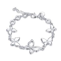 Trendy bracelet with butterflies - 925 sterling silver