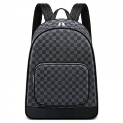 Polo backpack - plaid design - USB charging port - waterproof