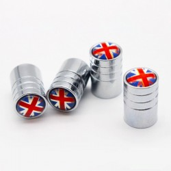 Aluminum valve caps - UK flag - 4 pieces