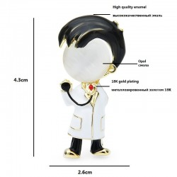 Doctor Brooches