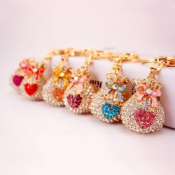 Lucky Money Bag - Keychain - Heart Shaped