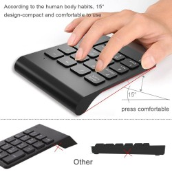2.4GHz - Wireless - Numeric Keypad Numpad - 18 Keys
