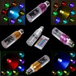 Acrylic crystal LED bulb - RGB - E27 - E14 - AC85 - 265V