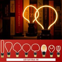 E27 - 220V - 240V - 3W - 4W - 4.5W - vintage LED bulb - irregular design