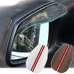 Car rear view side mirror rain visor - 2 pieces