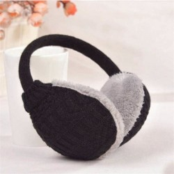 Winter earmuffs - knitted plush - detachable