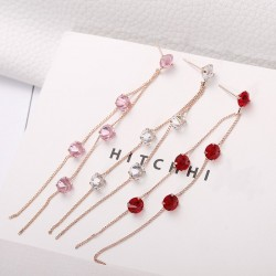 Tassels with crystals - long earrings