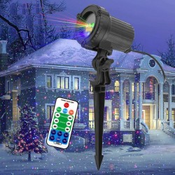Moving static red / green/ blue dots / stars - Christmas laser light - projector - waterproof