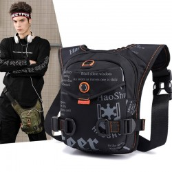 Leg / waist / shoulder small bag - waterproof nylon - unisex