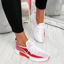 Mesh sports sneakers - comfortable running shoes
