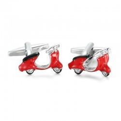 Enamel scooter - cufflinks - 2 pieces