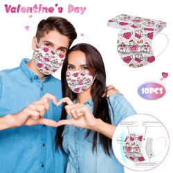 Face / mouth protective mask - Valentine's day - 10pcs