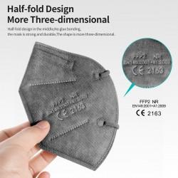 FFP2 - KN95 - protective face / mouth mask - 5-layer - reusable - grey - 10 - 100 pieces
