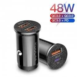 Mini - USB car phone charger - quick charge QC3.0 / PD 3.0 - type-C