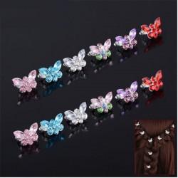 Crystal butterflies - bridal hair clip - 10 pieces