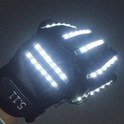 LED gloves - party accessories - 1 pair