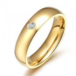 Elegant / classic ring - with zircon - 5mm